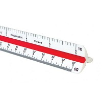 Alvin 600 Series 6 inch High Impact Plastic Engineer Triangular Scale