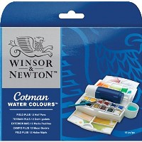 Winsor & Newton Cotman Watercolor Field Plus Set