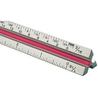 Fairgate T Series 30cm Solid Aluminum Metric Triangular Scale