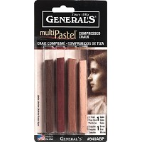 General's Compressed Earth Tone Pastel Chalk Sticks