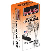 General's Compressed Charcoal Sticks 6B