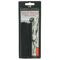 Faber-Castell Natural Willow Charcoal Stick 20-Pack