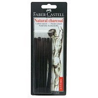Faber-Castell Natural Willow Charcoal Stick 12-Pack