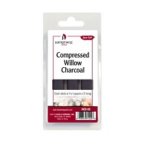 Heritage Arts Compressed Charcoal Sticks 3-Piece Clamshell (Soft)