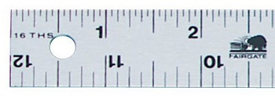 Fairgate 12 inch Aluminum Straightedge Ruler