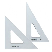 Alvin 10 inch & 12 inch Transparent Triangle Set