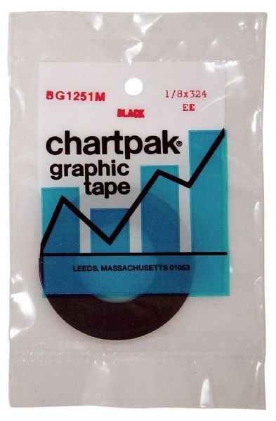 Chartpak 1/8 x 324 Graphic Tape Black Matte