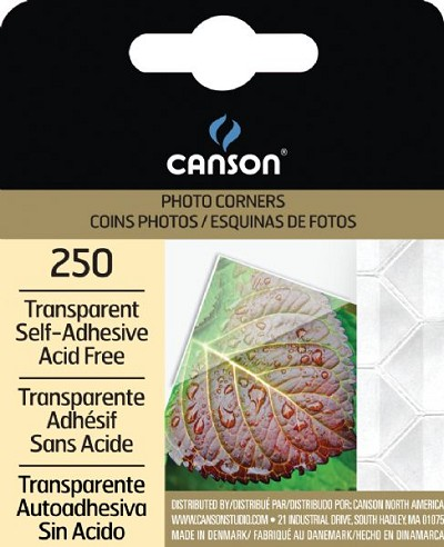 Canson Archival Self-Adhesive Transparent Photo Corners & Squares