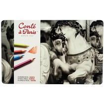 Conte Pastel Pencil 24-Color Set