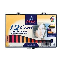 Conte Crayon 12-Color Portrait Set