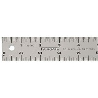 Fairgate 36 inch Cork-Back Aluminum Ruler