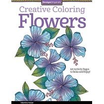 Design Originals Flowers Creative Coloring Books for Adults