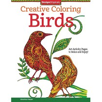 Design Originals Birds Creative Coloring Books for Adults