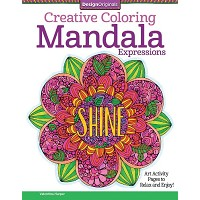 Design Originals Mandal Expressions Creative Coloring Books for Adults