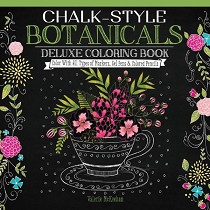 Design Originals Chalk-Style Deluxe Coloring Book Botanicals