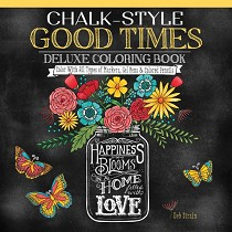 Design Originals Chalk-Style Deluxe Coloring Book Good Times