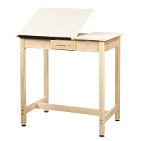 Shain 37 inch Two-Piece Drawing Table with Small Drawer