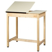 Shain 37 inch One-Piece Drawing Table (No Drawer)
