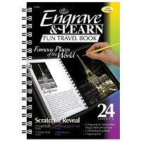 Royal & Langnickel Engrave & Learn Fun Travel Book Famous Places of the World