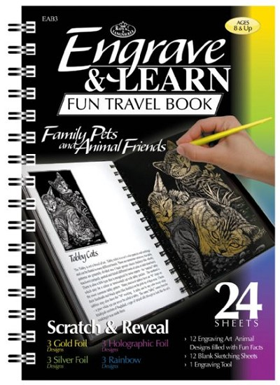 Royal & Langnickel Engrave & Learn Fun Travel Book Family Pets & Animal Friends