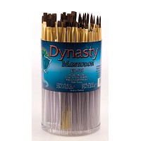Dynasty EB-700 Mastodon Canister Series Shader and Round Brush Assortment