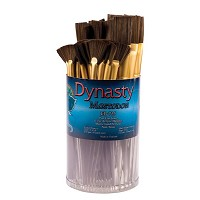 Dynasty EB-700 Mastodon Canister Series Fan and Flat Glaze Brush Assortment