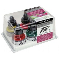 FW Liquid Artists' Acrylic Ink 6-Color Primary Set