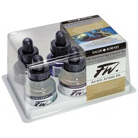 FW Liquid Artists' Acrylic Ink 6-Color Shimmering Set