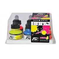 FW Liquid Artists' Acrylic 6-Color Fluorescent Ink Set
