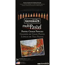 General's MultiPastel Pastel Pencil 24-Color Set