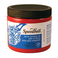 Speedball Water Soluble Block Printing Ink 16 oz. Red