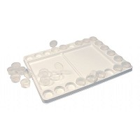 Heritage Arts Heavy-Duty Plastic Palette with Removable Cups