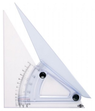 Alvin 10 inch Computing Trig-Scale Adjustable Triangle