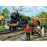 Royal & Langnickel Painting by Numbers 12 3/4 x 15 3/4 Adult Set Steam Train