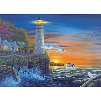 Royal & Langnickel Painting by Numbers 12 3/4 x 15 3/4 Adult Set Waterside Lighthouse
