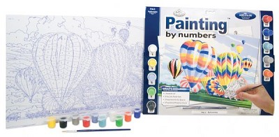 Royal & Langnickel Painting by Numbers 12 3/4 x 15 3/4 Adult Set Ballooning