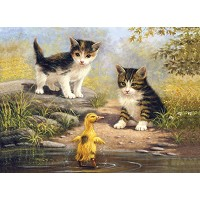 Royal & Langnickel Painting by Numbers 11 1/4 x 15 3/8 Junior Large Set Pond Pals