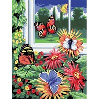 Royal & Langnickel Painting by Numbers 8 3/4 x 11 3/8 Junior Small Set Butterflies