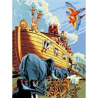 Royal & Langnickel Painting by Numbers 8 3/4 x 11 3/8 Junior Small Set Noah's Ark