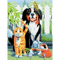 Royal & Langnickel Painting by Numbers 8 3/4 x 11 3/8 Junior Small Set Family Pets