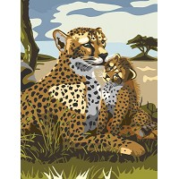 Royal & Langnickel Painting by Numbers 8 3/4 x 11 3/8 Junior Small Set Leopard
