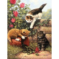 Royal & Langnickel Painting by Numbers 8 3/4 x 11 3/8 Junior Small Set Kitten at Play