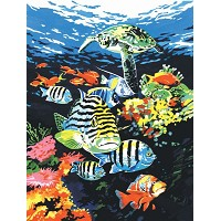 Royal & Langnickel Painting by Numbers 8 3/4 x 11 3/8 Junior Small Set Ocean Deep
