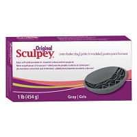 Sculpey Original Oven Bake Gray Clay 1 lb.