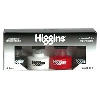 Higgins Waterproof Drawing Ink 4-Color Set
