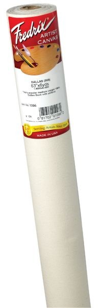 Fredrix PRO Dixie 96 x 18yd Acrylic Primed Cotton Canvas Roll