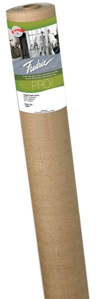 Fredrix PRO Series 54 inch x 30yd Unprimed Linen Canvas Roll 138 Linen Coarse