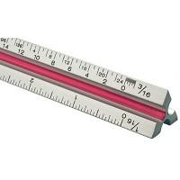 Fairgate T Series 6 inch Solid Aluminum Architect Triangular Scale