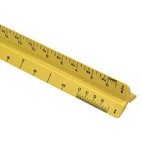 Architect Triangular Scale 12 inch Yellow