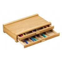 Wood Pastel Box 2 Drawer
